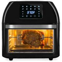 Large Adjustable Air Fryer Digital Display Countertop Oven, Rotisserie & Toaster