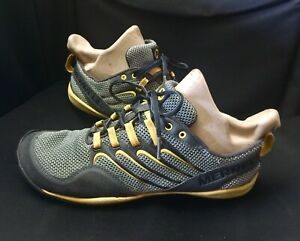 Merrell Mens Trail Glove Running Shoes Gray/Yellow Lace Up Low Top Sneakers 10