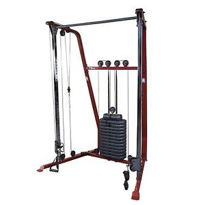 Functional Trainer w/ 190 lb weight stack, Best Fitness BFFT10R Home Gym Machine