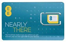 EE SIM CARD, with £5 credit Preloaded, 3 IN 1 SIM, PAYG, EE all Phones