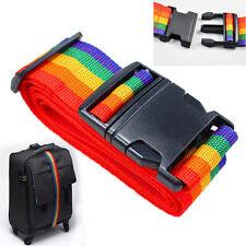 Einstellbar Koffergürtel Reise Koffer Kofferband Koffergurt Gepäck Band 190cm PD