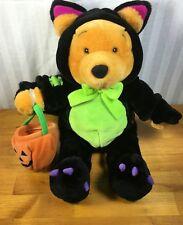 Disney WINNIE THE POOH Black Cat Halloween Costume Plush Animal