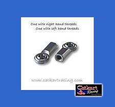 """PAIR H-DUTY TIE ROD ENDS 3/8"""" RIGHT & LEFT MANCO MURRAY STD TRACK BUGGY GO KART"""