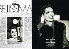 Coupure de presse clipping 094 1991 ISABELLA ROSSELLINI (6 pages)