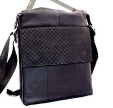 Genuine full Leather Bag Messenger Business Design women crossbody retro black
