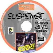 Suspense -  92 Old Time Radio Shows - Audio MP3 CD