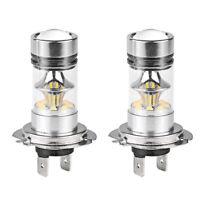 2Pcs H7 100W CREE LED Fog DRL Driving Car Head Light Lamp Bulbs Super Bright Pro