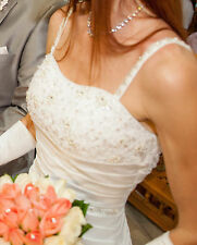 WEDDING DRESS Sweetheart Diamond White size 4-6