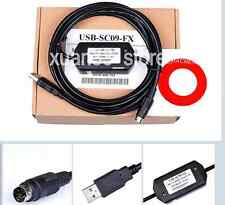 New PLC Programming Cable USB-SC09-FX USB To RS422 Adapter For Mitsubishi FX PLC