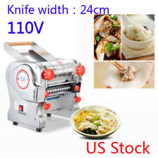 Electric Pasta Press Maker Noodle Machine Dumpling Skin Home Commercial 110V US