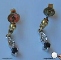 Saphirohrstecker Ohrstecker Stecker Ohrringe mit Saphir Safir 585 Gold