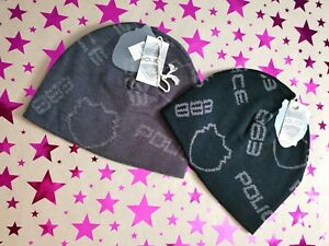 2x Police 883 Designer Beanie Hats - Xmas - Authentic! One size fits all.
