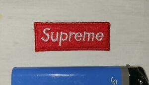 Mini SUPREME BOX LOGO IRON ON PATCH !