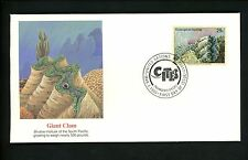 Postal History UN FDC NY #622  Endangered Species Animals Giant Clam 1993