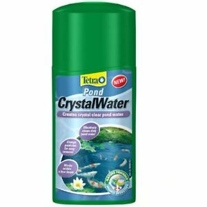 250ml 500ml TETRA POND CRYSTALWATER DIRTY MURKY BROWN CLEANER CRYSTAL WATER