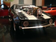 MUSCLE MACHINES 1969 CHEVROLET CAMARO 1:24 SCALE CUSTOM MODIFIED BLACK