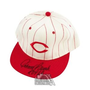 Johnny Bench ROY 68 Autographed Cincinnati Reds Baseball Cap Hat - BAS COA