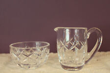 WATERFORD CRYSTAL IRELAND CREAM AND OPEN SUGAR KERRY PATTERN SIGNED