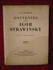 C. F. Ramuz, Souvenirs sur Igor Stravinsky