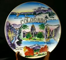 "Vintage 8.5"" Hand Painted Colorado Collector Plate"