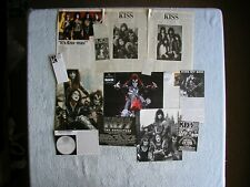 KISS - MAGAZINE CUTTINGS COLLECTION - CLIPPINGS, ARTICLES, PHOTOS X14.