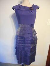 Adrianna Papell Purple Shutter Pleat Dress Shimmer Tiered Cocktail Dress  4