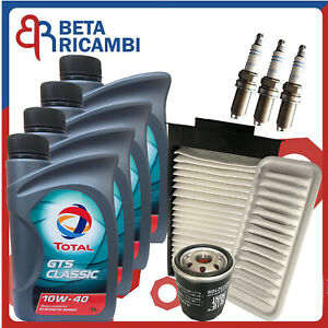Kit tagliando Citroen C1 Peugeot 107 Toyota Aygo 1.0 Filtri Olio 3 Candele Bosch