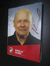 36344 miroslav koubek FC Victoria plzen Original con firma de autógrafos mapa