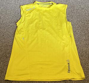 Yellow Reebok Les Mills Vets Top Size S