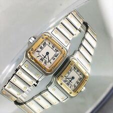 Cartier Santos Stainless Steel 18K Gold ladies watch BEAUTIFUL CARTIER WATCH