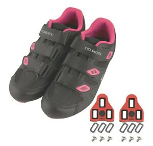 CyclingDeal Bicycle Road Bike Universal Cleat Mount Women's Cycling Shoes size 8