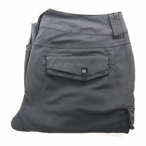Prana Breathe Womans Lightweight Zip Off Hiking Pants Grey Size 4