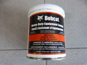 Original Bobcat Lack Farbe Lackierpistole weiß white paint 946ml 6902235