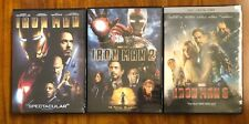 Iron Man 1, 2, and 3 Complete 3-DVD Trilogy Set Brand New DVDs