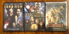 Iron Man 1, 2, and 3 Complete 3-DVD Trilogy Set Brand New DVDs Free Shipping