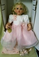 "FAYZAH SPANOS 24"" VINYL GIRL DOLL ""WITH A KISS, WILL YOU BE MY PRINCE?"" COA/BOX"