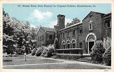 Elizabethtown Pa~Crippled Children Hospital~Nurses Home~Chrome Globe in Yard~'42