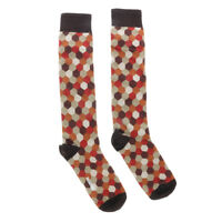 Missoni GM00CMD4597 0001 Red//Black Chevron Boot Socks