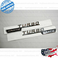 "Gloss Black /""A45 AMG BITURBO //////AMG/"" Number Emblem Sticker for Mercedes-Benz"