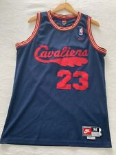 lebron james cleveland cavaliers throwback nike jersey size mens medium