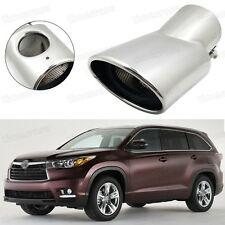 Silver Car Exhaust Muffler Tip Tail Pipe End Trim for Toyota Highlander #5023