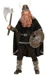 Deluxe Viking Chief Warrior Soldier Mens Fancy Dress Costume S- XL