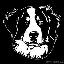 BERNESE MOUNTAIN DOG PORTRAIT DECAL -BERNER STICKER-NEW