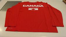 Team Canada 2014 Sochi Olympics Small Red Legends Hockey LS T Shirt