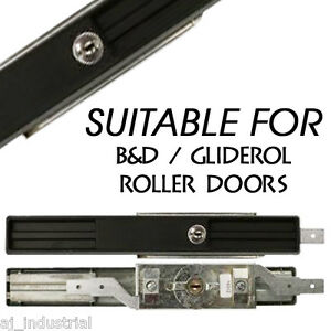 ROLLER DOOR LOCK SET WITH FACEPLATE - SUITABLE WITH B&D / BND GLIDEROL - GARAGE