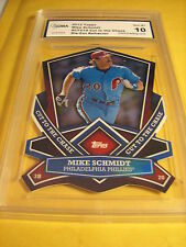MIKE SCHMIDT PHILLIES 2013 TOPPS CUT TO THE CHASE DIE-CUT REFRACTOR GRADED 10