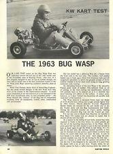 Vintage 1960's Karting World Bug Wasp Go-Kart Test