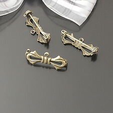 10PCS 28*17MM Brass Bow Brooch Pins Brooch Base Jewelry Accessories Findings