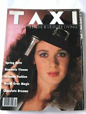 vintage taxi magazine 1980s feb 1987 fashion trends spring suits intimate fashio