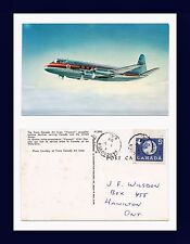 AVIATION TRANS CANADA VISCOUNT 1 MAY, 1959 TO J.F. WILSDON OF HAMILTON, ONTARIO